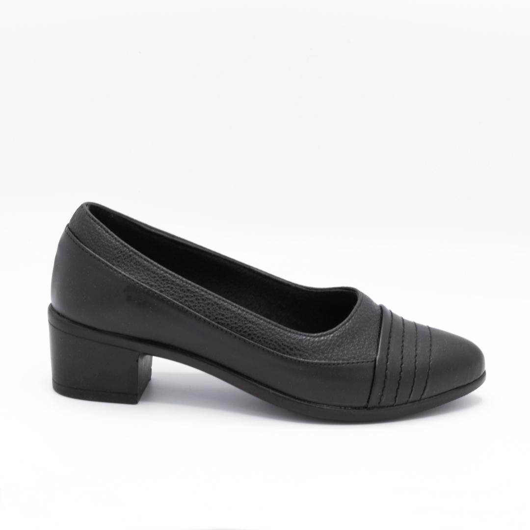 کفش مجلسی زنانه مشکی پاشنهدار