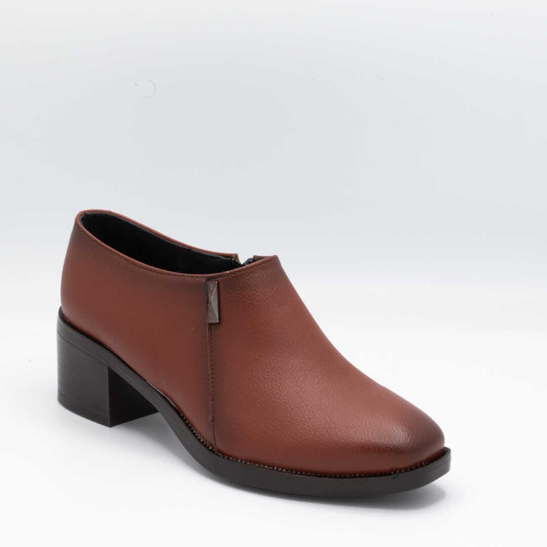 کفش اداری زنانه قهوهای پاشنهدار