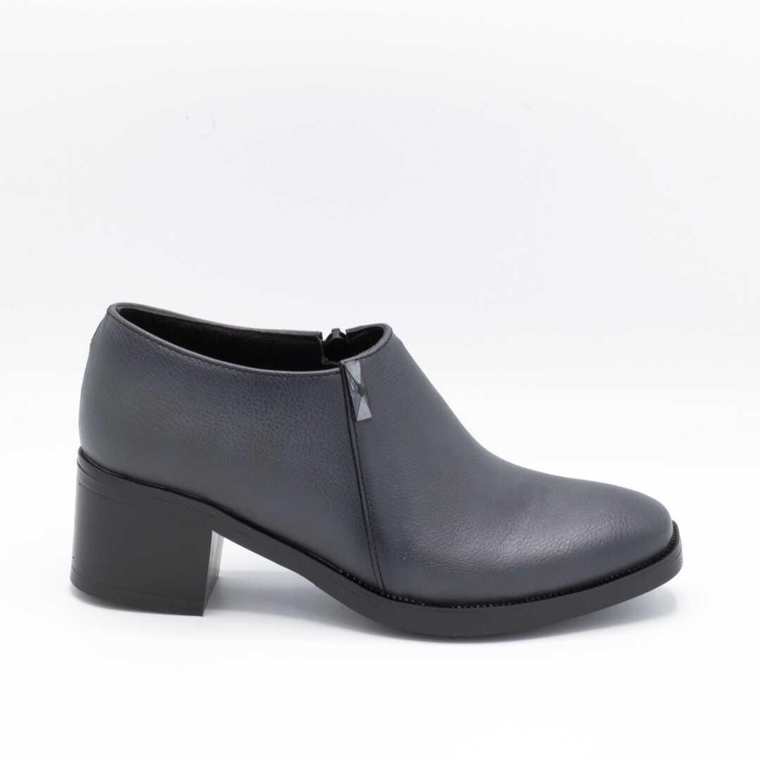 کفش اداری زنانه طوسی پاشنهدار