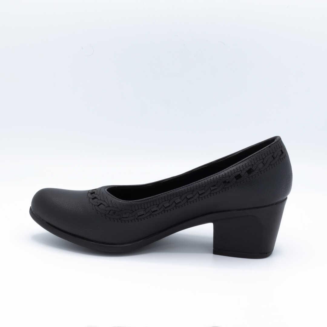 کفش اداری زنانه مشکی پاشنهدار