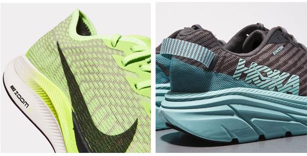 مقایسه بالشتک دو کفش مخصوص دویدن