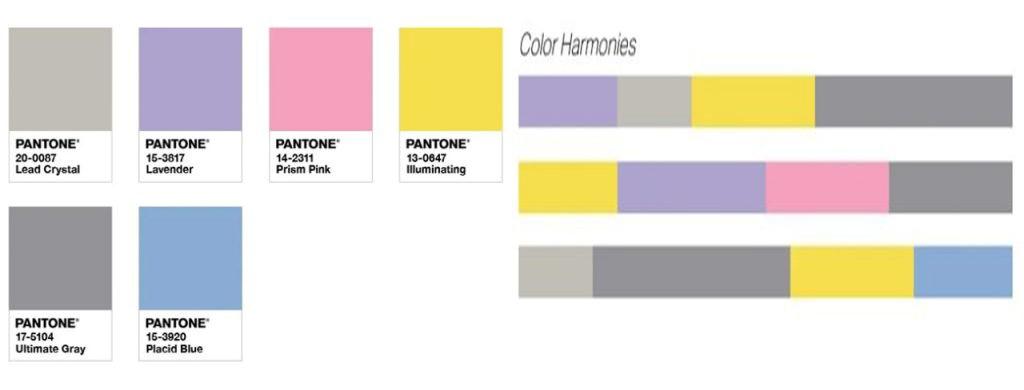 رنگهای ملایم هماهنگ با رنگهای زرد و خاکستری