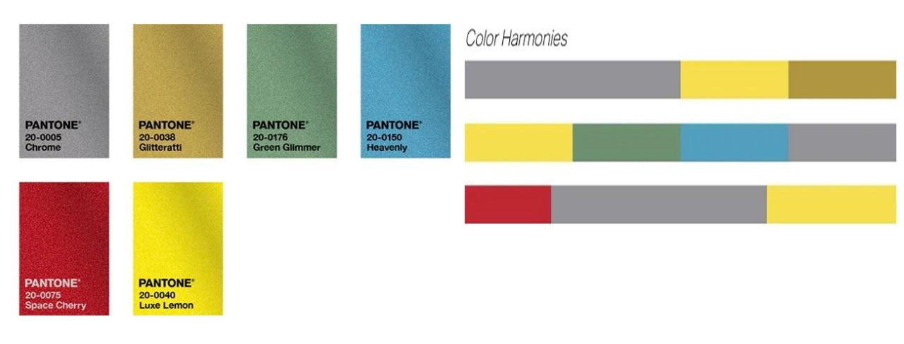 رنگ های براق متناسب با رنگ خاکستری و زرد
