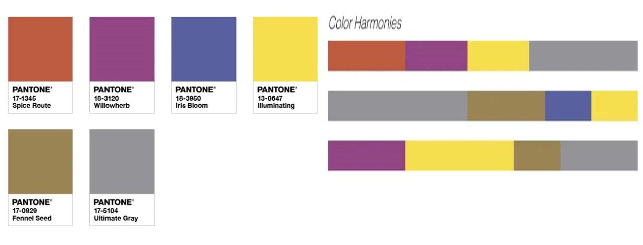 رنگ های تلفیقی مناسب با رنگ های زرد و خاکستری