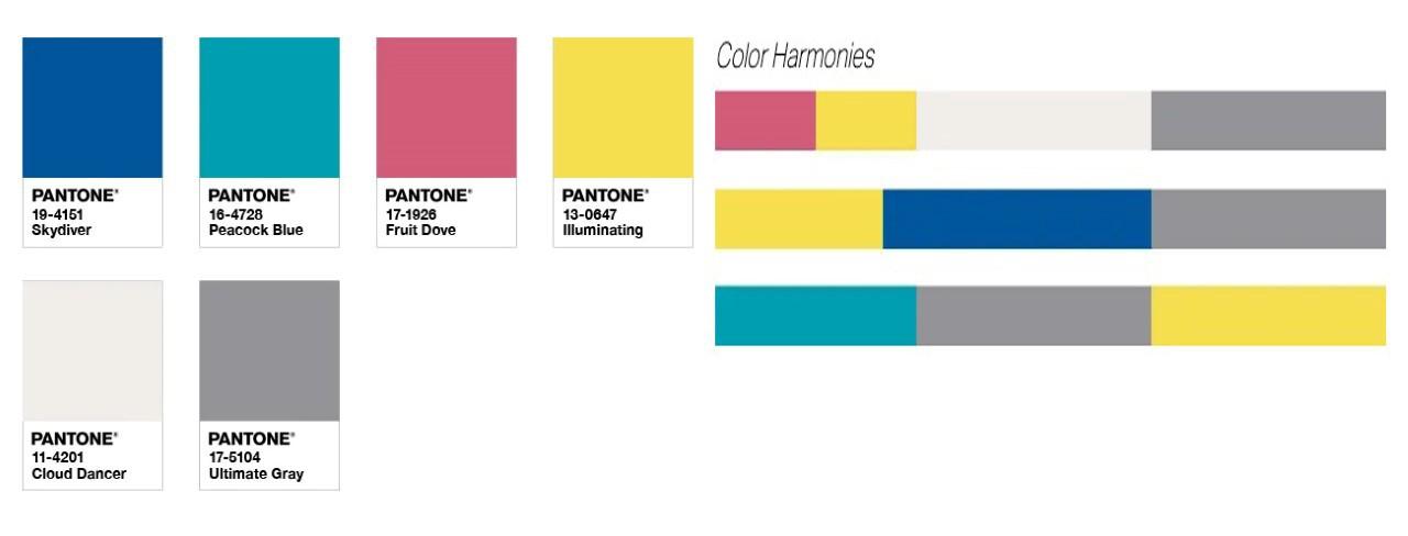 رنگ های شاد هماهنگ با رنگ های خاکستری و زرد