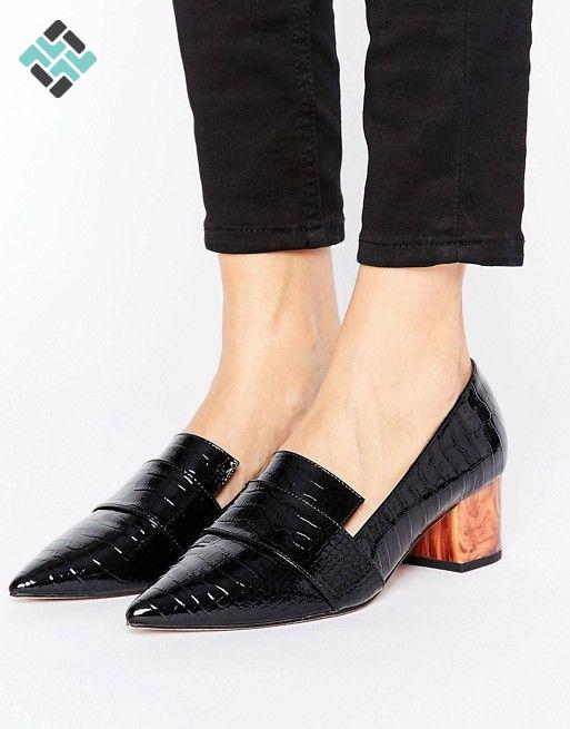 کفش پاشنه مربع
